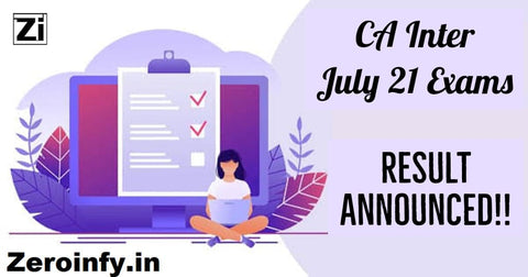 CA Inter July 21 Results