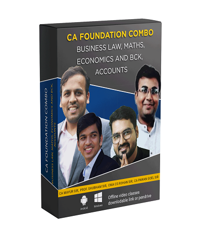 CA Foundation All Subjects Combo By Shubham Agarwal - Zeroinfy