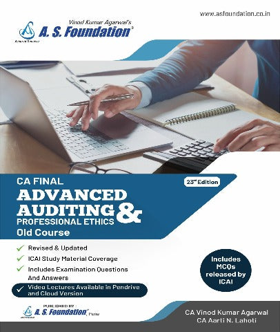 CA Final (Old) 23rd Ed. Adv Audit & Prof Ethics Books by Vinod Agarwal And Aarti Lahoti - Zeroinfy