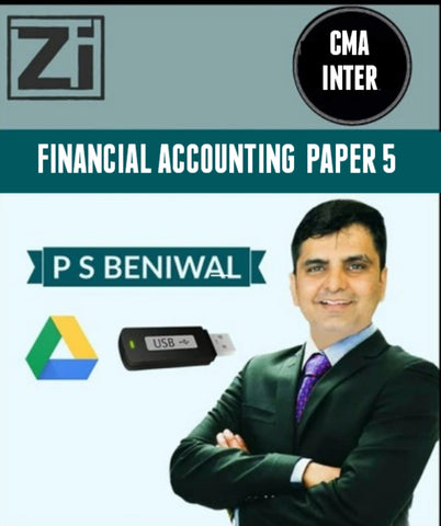 CMA INTER Financial Accounting PAPER - 5 By P. S. Beniwal - zeroinfy