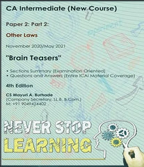 CA Inter Other Laws Brain Teasers Book By CS Mayuri Burhade - Zeroinfy