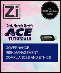 CS Professional (New) Paper 1  Governance, Risk Management, Compliances and Ethics By ACE Tutorials - Zeroinfy