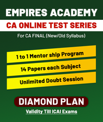 CA Final Old/New Online Diamond Plan Test Series By Empires Academy - Zeroinfy