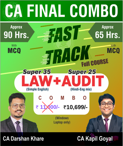 CA Final Law and Audit Fast Track Combo By Darshan Khare and Kapil Goyal (New) - Zeroinfy