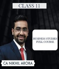 Class 11 Business Studies Full Course Video Lectures By CA Nikhil Arora (Old/New) - Zeroinfy