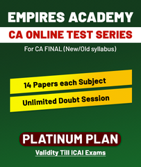 CA Final Old/New Online Platinum Plan Test Series By Empires Academy - Zeroinfy