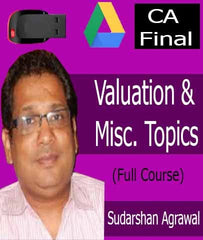 CA Final (Old)(FR) - Valuation & Misc. Topics Full Videos By Sudarshan Agrawal - Zeroinfy