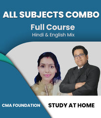 CMA Foundation All Subjects Combo By Study At Home - Zeroinfy