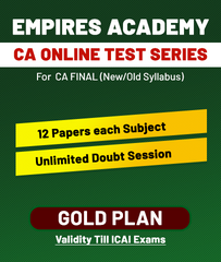 CA Final Old/New Online Gold Plan Test Series By Empires Academy - Zeroinfy