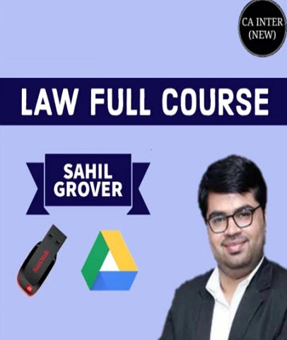 CA Inter Law Full Course Video Lectures by  Sahil Grover - Zeroinfy