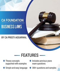 CA Foundation Business Laws Book By CA Preeti Aggarwal - Zeroinfy