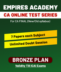 CA Final Old/New Online Bronze Plan Test Series By Empires Academy - Zeroinfy