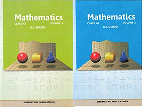 Mathematics for Class 12 by R D Sharma (Set of 2 Volume) (2019-2020 Session) - Zeroinfy