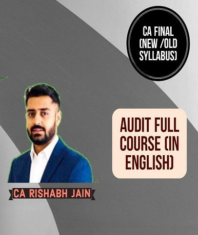 CA Final Audit Full Course In English By CA Rishabh Jain (New/Old)