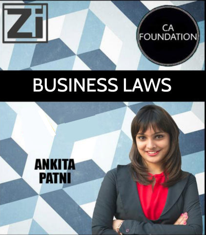 CA Foundation Business Laws By CA Ankita Patni - Zeroinfy