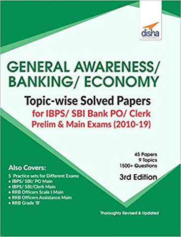 Gen Awareness, Bankng & Eco.Topicwise Solved Papers (IBPS PO Clerk Prelim, Main Exm)Disha Experts - Zeroinfy
