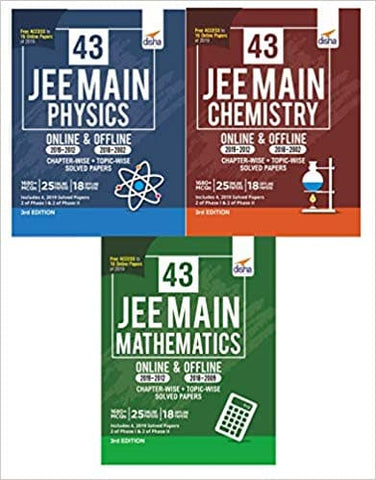 43 JEE Main Online & Offline Physics, Chemistry & Mathematics Topic-wise Solved Papers by Disha Experts