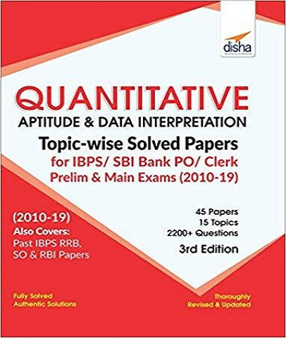 Qtv Apt & Data Intp Topcws Solved Paprs for SBI PO/Clerk Prelm & Main Exm 3rd Ed by Disha Experts - Zeroinfy
