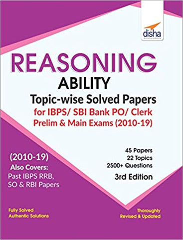 Reasoning Ability Topicwise Solved Papers for Bank PO/ Clerk Prelm & Main Exam 3rd Ed-Disha Experts - Zeroinfy