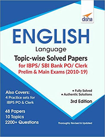 English Lang. Topic-wise Solved Papers for SBI Bank PO/ Clerk Prelim & Main Exam by Disha Experts - Zeroinfy