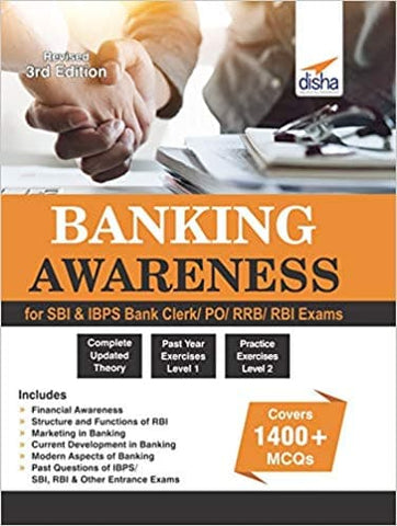 Banking Awareness for SBI Bank Clerk/PO/RRB/RBI Exams by Disha Experts