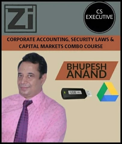 CS Executive Corporate Accounting and Securities Laws & CM Combo Course by Bhupesh Anand - Zeroinfy