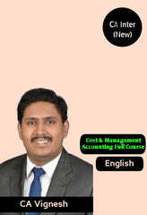 CA Inter Cost & Management Accounting Full Course By CA Vignesh - Zeroinfy