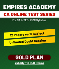 CA Inter/IPCC Online Gold Plan Test Series By Empires Academy - Zeroinfy
