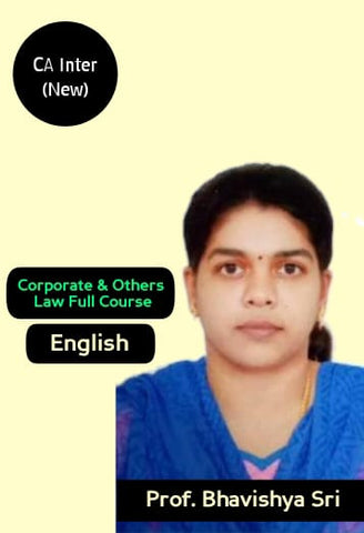 CA Inter Corporate and Other Laws Full Course By CA Bhavishya Sri - Zeroinfy