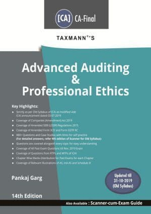 CA Final Advanced Auditing & Professional Ethics Books By Pankaj Garg (Old) - Zeroinfy