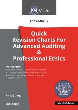 CA Final Quick Rev. Charts For Adv Auditing & Prof. Ethics by CA Pankaj Garg (New/Old) - Zeroinfy