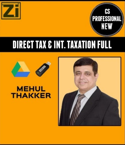 CS Professional Direct Tax Laws & International Taxation By Mehul Thakker (New) - Zeroinfy