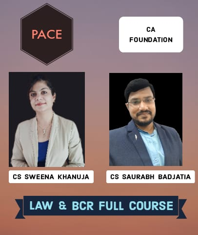 CA Foundation Law and BCR Full Course By Pace Academy