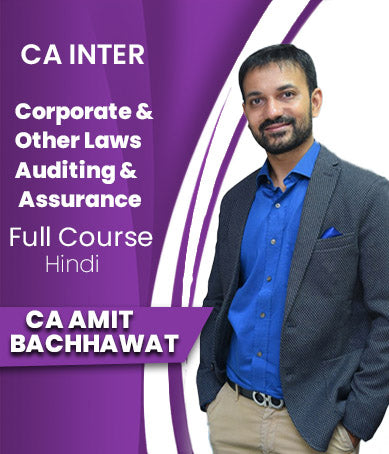 CA Inter  Corporate And Other Laws + Auditing And Assurance  By Amit Bachhawat