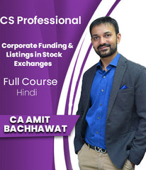 CS Professional (New) Corporate Funding & Listings in Stock Exchanges By Amit Bachhawat - Zeroinfy