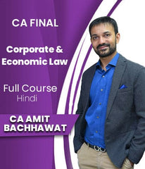 CA Final (New) Corporate and Economic Law Full Course By Amit Bachhawat