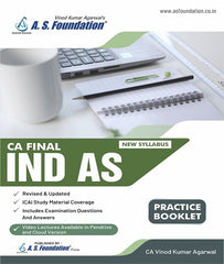 CA Final New Syllabus IND AS Practice Booklet by CA Vinod Kr. Agarwal - Zeroinfy