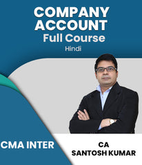 CMA Inter (New) Company Account Full Course Video Lecture By Santosh Kumar - Zeroinfy