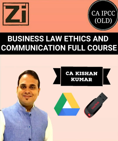 CA IPCC Business Law Ethics And Communication Full Course By Kishan Kumar (Old) - Zeroinfy