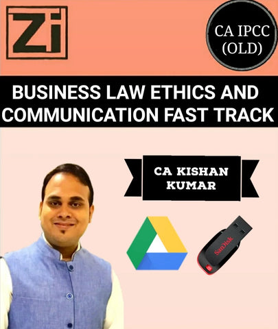 CA IPCC Business Law Ethics And Communication Fast Track Course By Kishan Kumar (Old) - Zeroinfy