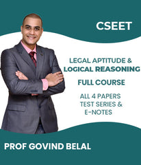 CSEET Legal Aptitude and Logical Reasoning Full Video Lectures and All 4 Papers Test Series and E-Notes By Prof Govind Belal - Zeroinfy