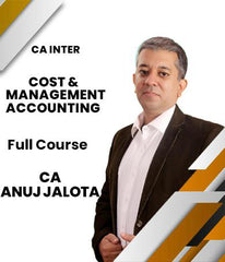 CA Inter Cost and Management Accounting Full Course by CA Anuj Jalota