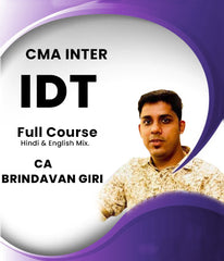CMA Inter Indirect Tax Full Video Lectures by CA Brindavan Giri - Zeroinfy