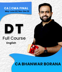 CA / CMA Final Direct Tax Full Course In English By CA Bhanwar Borana For May-June 22 / Nov-Dec 22 - Zeroinfy