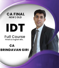 CA Final Indirect Tax Full Course by CA Brindavan Giri (Old/New)
