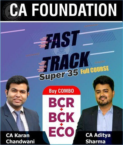 CA Foundation BCR+BCK+ECO Fast Track Video Lectures by CA Karan Chandwani & CA Aditya Sharma - Zeroinfy