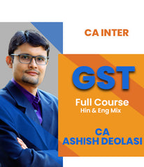 CA Inter GST Full Course Video Lectures By Ashish Deolasi - Zeroinfy