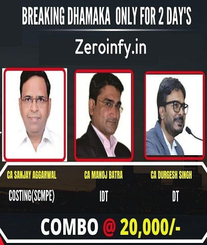 CA Final New SCMPE DT IDT Full Course Combo By Sanjay Aggarwal, Durgesh Singh and Manoj Batra by Zeroinfy