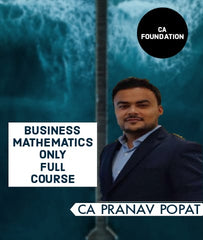 CA Foudation Business Mathematics Only Full Course By CA Pranav Popat
