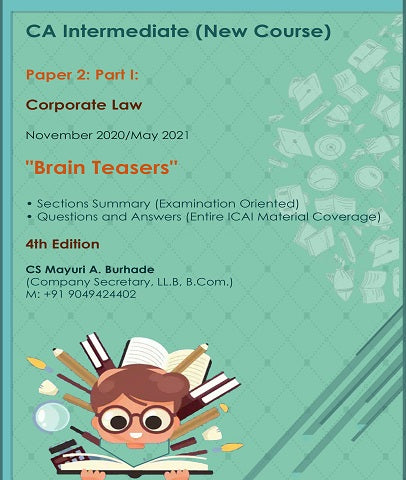CA Inter Corporate Laws Brain Teasers Book By CS Mayuri Burhade - Zeroinfy